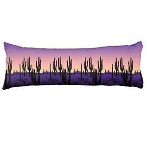 Purple Desert Cotton linen Body Pillowcase